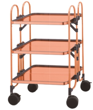 copper folding table wagon