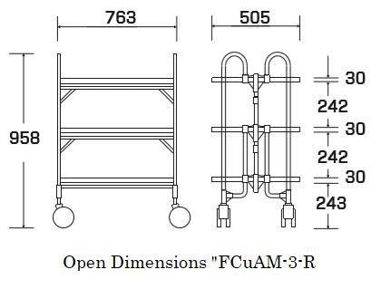 """Open dimensions """"FCuAM-3-R"""""""