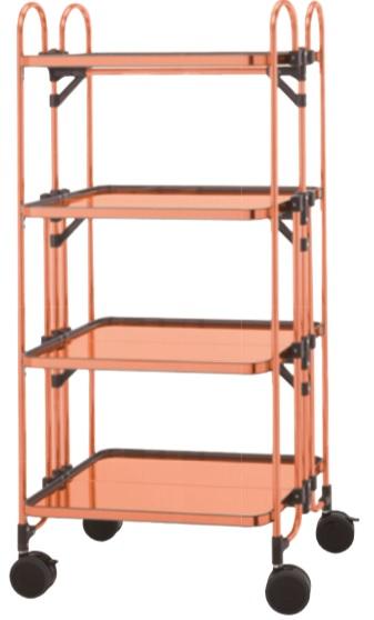 copper folding table wagon