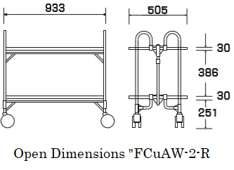 "Open dimensions ""FCuAW-2-R"""