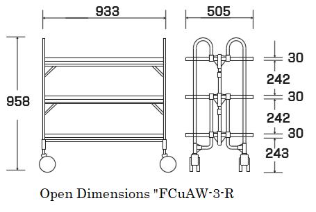 Open dimensions FCuAW-3-R