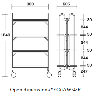 "Open dimensions ""FCuAW-4-R"