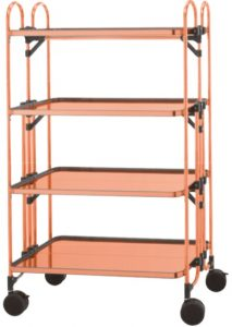"Copper folding table wagon ""FCuAW-4-RT"