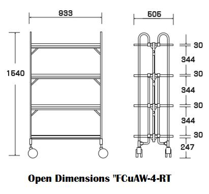 "Open dimensions ""FCuAW-4-RT"""