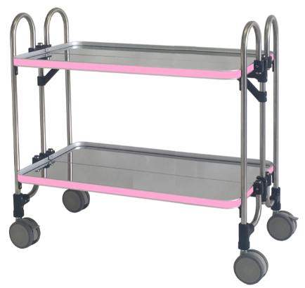 large-sized and double table model in pink